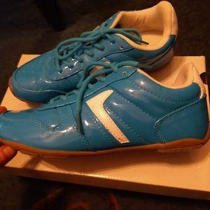 Ladies Cali teal Tennis shoes